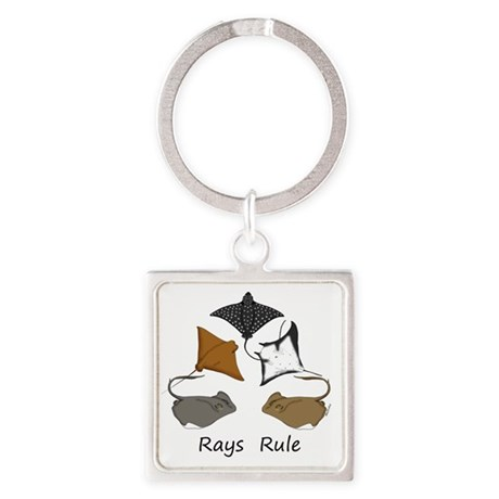 rays rule Square Keychain