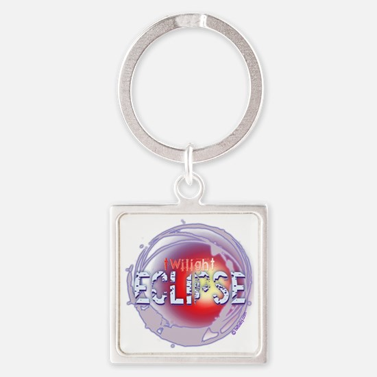 twilight eclipse dark background 2 Square Keychain
