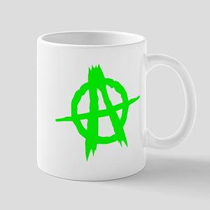 Anarchy Symbol Green Mugs