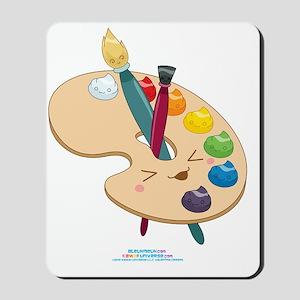 Kawaii-Paint-Palette-Cafe-Trans Mousepad