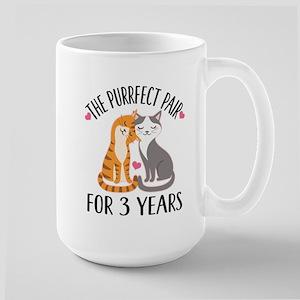 3rd Anniversary Gift Cat Couple Mugs