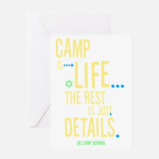 Camp-Is-Life_reverse Greeting Card