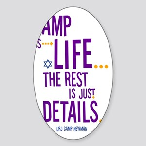 Camp-Is-Life Sticker (Oval)