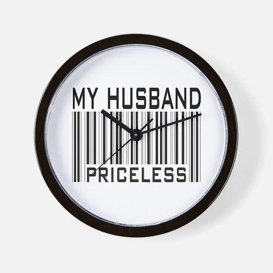 My Husband  Priceless Barcode Wall Clock