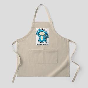 blue monkey icon Apron