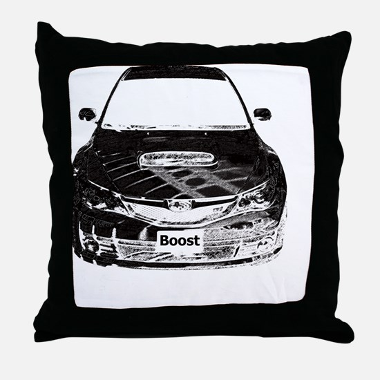 Alex STi - Charcoal Sketch - Transpar Throw Pillow
