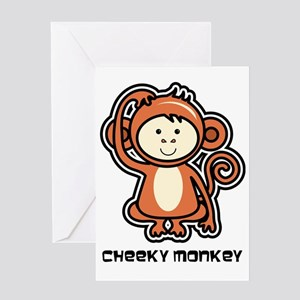 Cheeky monkey greeting cards cafepress monkey icon greeting card m4hsunfo