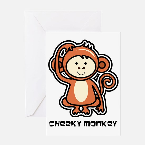 monkey icon Greeting Card