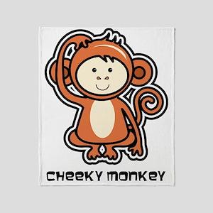 monkey icon Throw Blanket