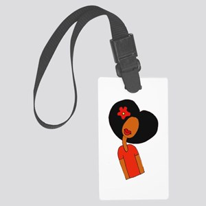 Curl Pattern Large Luggage Tag