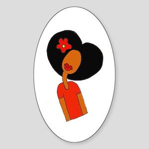 Curl Pattern Sticker (Oval)