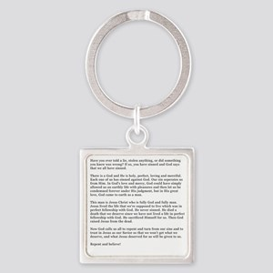 3-RB-back Square Keychain
