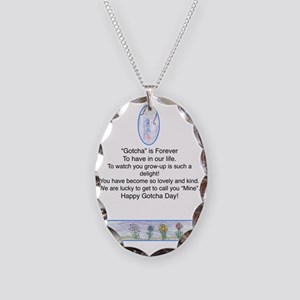 forever Necklace Oval Charm