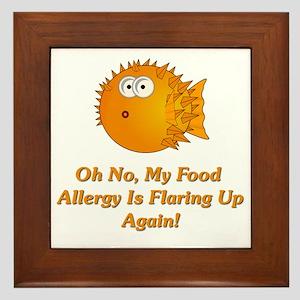 Oh No, My Food Allergy Framed Tile