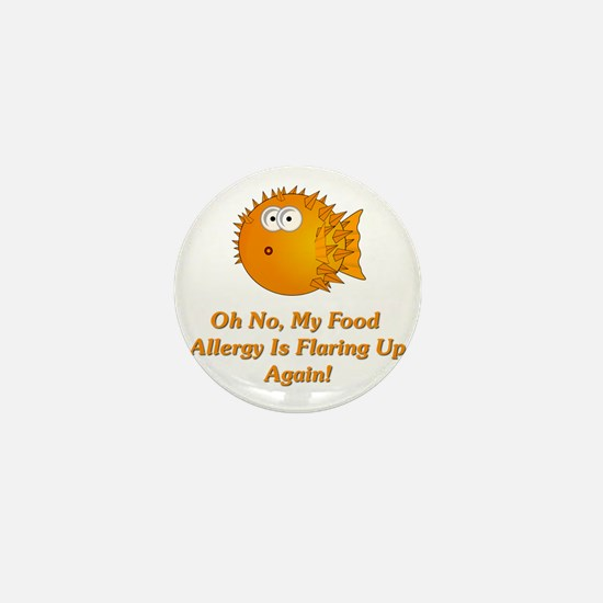 Oh No, My Food Allergy Mini Button