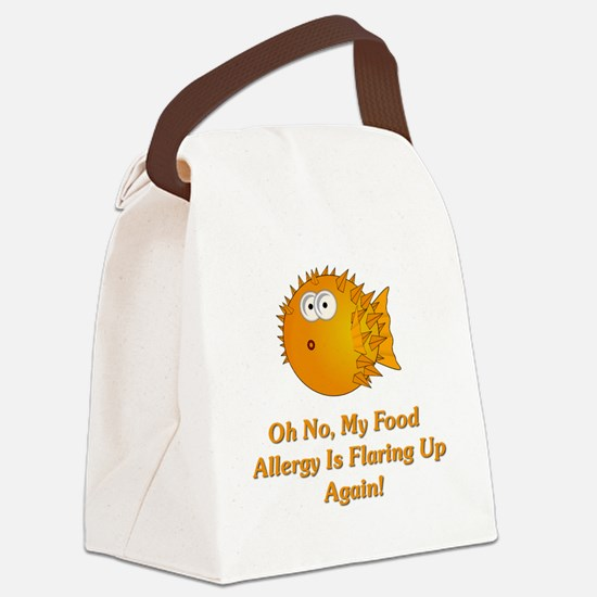 Oh No, My Food Allergy Canvas Lunch Bag