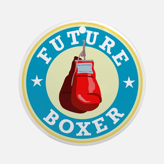 Future-Boxer Round Ornament