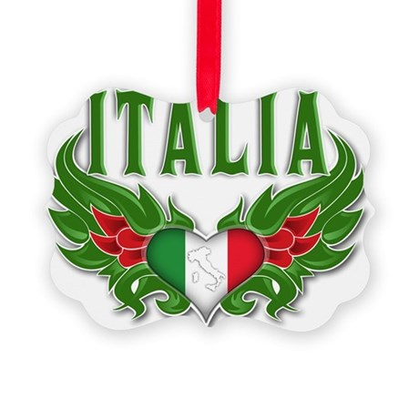 Italian Pride Picture Ornament
