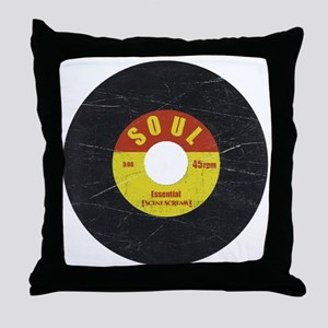 Soul Record - Scratch Texture - RGB Throw Pillow