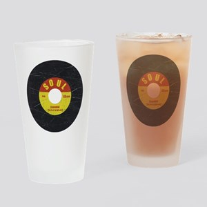 Soul Record - Scratch Texture - RGB Drinking Glass