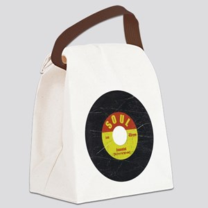 Soul Record - Scratch Texture - R Canvas Lunch Bag