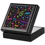 Colored Music Notes Choir Band Keepsake Box