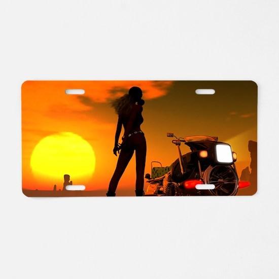 Summer Heat Aluminum License Plate
