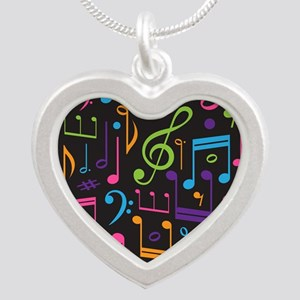 Colored Music Notes Choir Band Necklaces