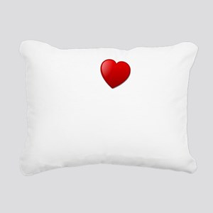 I Heart Gluten Free Pizz Rectangular Canvas Pillow