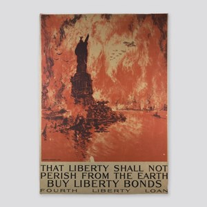 Liberty-shall-not-perish-Pennell 5'x7'Area Rug