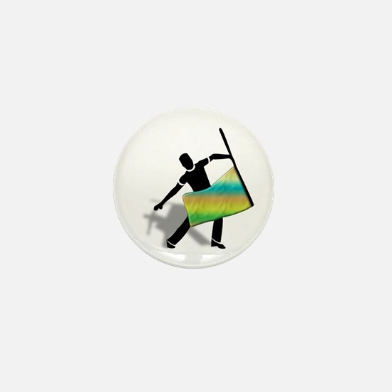 Unique Colorguard Mini Button