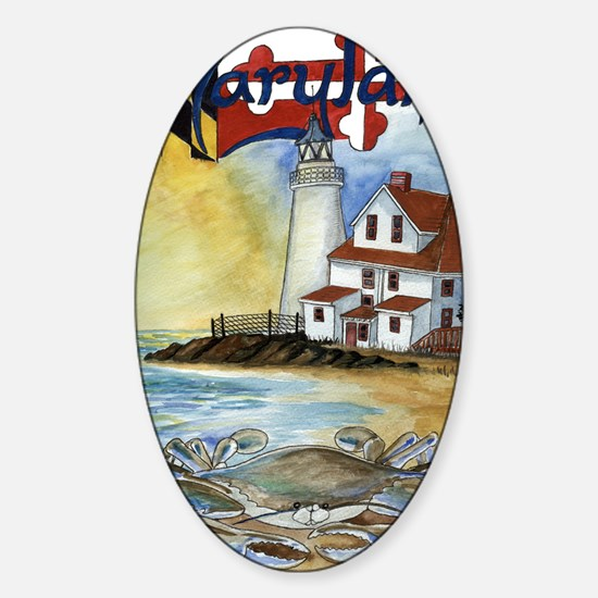 Maryland Lighthouse Sticker (Oval)