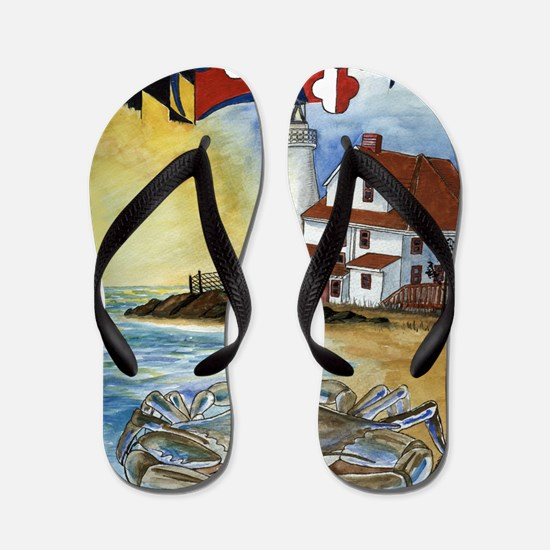 Maryland Lighthouse Flip Flops