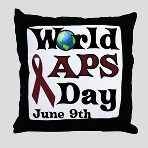 June 9th is World APS Day Throw Pillow