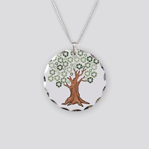fulltree Necklace Circle Charm