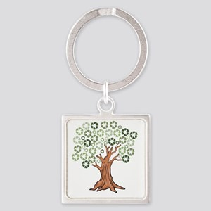fulltree Square Keychain