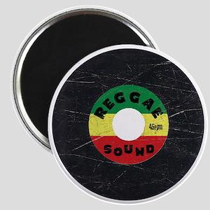 Reggae Record - Scratch Texture Magnet