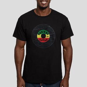 Reggae Record - Scratc Men's Fitted T-Shirt (dark)