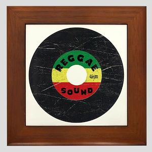 Reggae Record - Scratch Texture Framed Tile