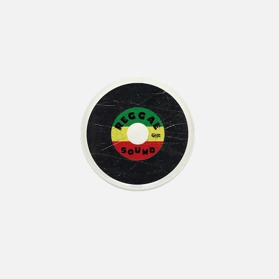 Reggae Record - Scratch Texture Mini Button