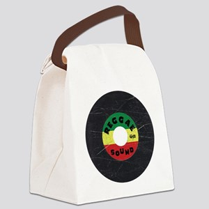 Reggae Record - Scratch Texture Canvas Lunch Bag