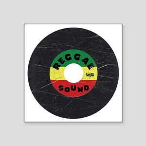 "Reggae Record - Scratch Tex Square Sticker 3"" x 3"""