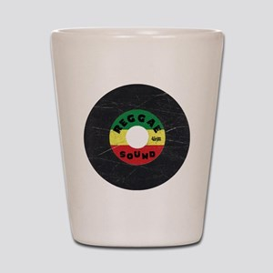 Reggae Record - Scratch Texture Shot Glass