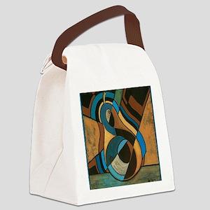GeoCubistPear for DiegoShirt Canvas Lunch Bag