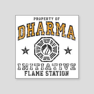 """Flame Square Sticker 3"""" x 3"""""""