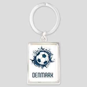Denmark Football3 Portrait Keychain