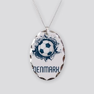 Denmark Football3 Necklace Oval Charm