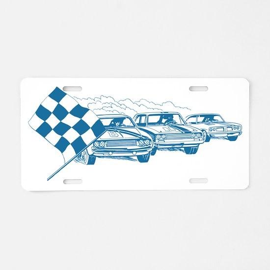 carsBlue Aluminum License Plate