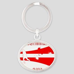 Denmark copy Oval Keychain
