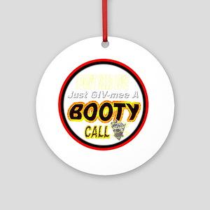 500BOO-T-CALL-TSHIRT-WT-LT Round Ornament